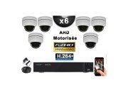 KIT PRO AHD 6 Caméras Dômes Motorisée PTZ IR 20m FULL HD 1080P + Enregistreur DVR AHD FULL HD 2000 Go / Vidéo surveillance