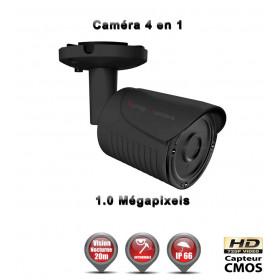 Tube AHD / CVI / TVI / Analogique : HD 720P 1MP CMOS IR 20m / Ref : EC-AHDC4i1 Noir - Caméra de Vidéo surveillance