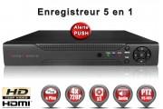 Enregistreur numérique 5 en 1 XVR AHD CVI TVI IP 4 canaux H264 HD 720P / EC-DVR960H4