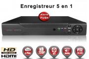 Enregistreur numérique 5 en 1 XVR AHD CVI TVI IP 8 canaux H264 HD 720P / EC-DVR960H8-1