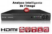 Enregistreur numérique HVR 16 canaux H264 FULL D1 / EC-DVR16FD1 - HDMI - Plug and play - Analyse intelligente