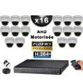 KIT PRO AHD 16 Caméras Dômes Motorisée PTZ IR 20m FULL HD 1080P + Enregistreur XVR 5MP H264+ 3000 Go / Vidéo surveillance