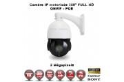 Caméra de vidéo surveillance motorisée PTZ 360° IP POE FULL HD 1080P ONVIF IR 50M ZOOM X18 Exterieur / EC-PTZIP18X