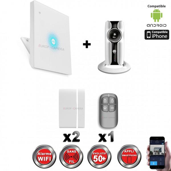 Kit Alarme IP WIFI sans fil + Caméra WIFI HD CHUANGO