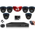 KIT ECO 6 Caméras Dômes CMOS + Enregistreur DVR 500 Go / Pack de vidéo surveillance