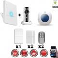 Kit Alarme IP WIFI sans fil + Caméra WIFI HD + sirène flash intérieure CHUANGO