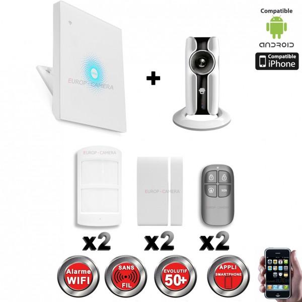 kit alarme ip wifi sans fil cam ra wifi hd chuango. Black Bedroom Furniture Sets. Home Design Ideas