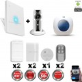 Kit Alarme IP WIFI sans fil + Caméra WIFI HD CHUANGO + Incendie + Sirène flash intérieure CHUANGO