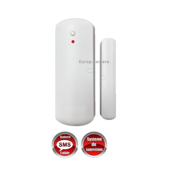 Détecteur d'ouverture Porte / Fenêtre sans fil 868 mhz bi-directionnel lithium MFprotect