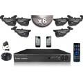 KIT CONFORT 6x Caméras Tubes 700 TVL + Enregistreur DVR 500 Go / Pack de vidéo surveillance