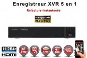 Enregistreur numérique 5 en 1 XVR AHD CVI TVI IP 4 canaux H264+ 5MP 4MP 1080P FULL HD / Ref : EC-XVRAHD41080