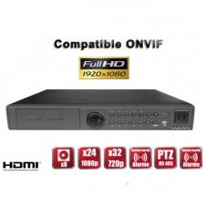 Enregistreur numérique NVR réseau 32 canaux H264 IP ONVIF 5MP 3MP 1080P FULL HD / Ref : EC-NVR24C4
