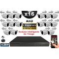 KIT PRO AHD 16 Caméras Tubes IR 30m 4 MegaPixels + Enregistreur XVR 5MP H264+ 3000 Go / Pack vidéo surveillance