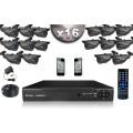 KIT CONFORT 16 Caméras Tubes 700 TVL + Enregistreur DVR 2000 Go / Pack de vidéo surveillance