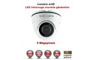 "Mini Dôme AHD Anti-vandal 5 MegaPixels Capteur 1/3"" SONY IR 20m étanche réf: EC-AHDD20B4MPS - caméra surveillance"