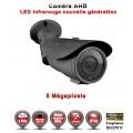 Tube AHD / CVI / TVI Capteur SONY 5 MegaPixels IR 40m étanche réf: EC-AHDC404MPS - caméra vidéo surveillance