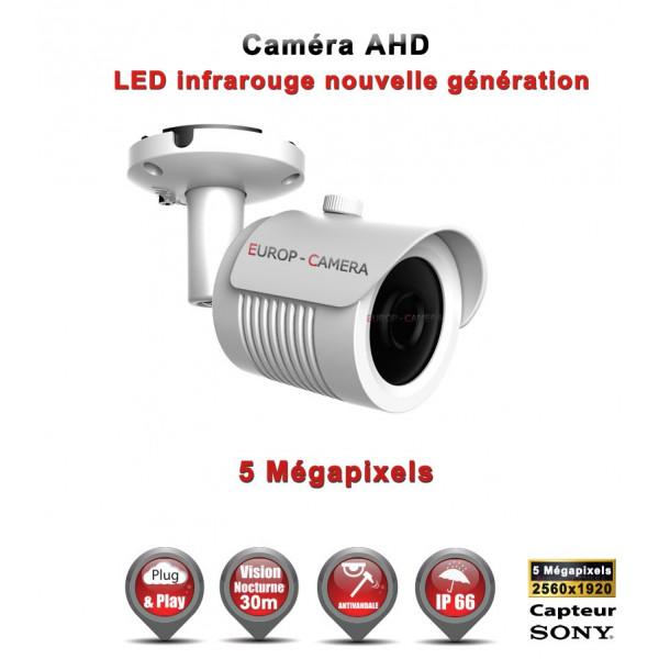 Tube AHD / CVI / TVI Capteur SONY 5 MegaPixels IR 30m étanche réf: EC-AHDC20B4MPS - caméra surveillanceaa_bb
