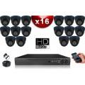 KIT ECO 16 Caméras Dômes CMOS + Enregistreur DVR 2000 Go / Pack de vidéo surveillance