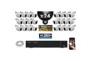 Kit Vidéo Surveillance PRO IP : 24x Caméras POE Tubes IR 30M 5 MegaPixels + Enregistreur NVR 36 canaux H265+ 3000 Go