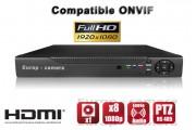 Enregistreur numérique NVR réseau 8 canaux H264 IP ONVIF 1080P HD / Ref : EC-NVR8C1