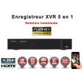 Enregistreur numérique 5 en 1 XVR AHD CVI TVI IP 8 canaux H264+ 720P 1080N / Ref : EC-XVRECO81080
