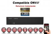 Enregistreur numérique NVR réseau 64 canaux H264+ / H265+ IP ONVIF 12MP UHD 4K 5MP 3MP 1080P FULL HD / Ref : EC-NVR64H265C8