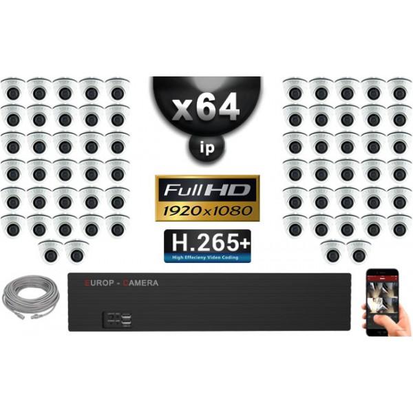 kit vid o surveillance pro ip 64x cam ras d mes ir 20m capteur sony 1080p enregistreur nvr. Black Bedroom Furniture Sets. Home Design Ideas