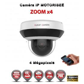 Caméra vidéo surveillance motorisée PTZ IP POE 4 MegaPixels ONVIF IR 20M ZOOM X4 Exterieur / EC-N2404IDE3