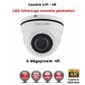 Dôme AHD / CVI / TVI Anti-vandal 8 MegaPixels UHD 4K DAHUA IR 35m étanche réf: EC-XVID308MP - caméra surveillance