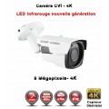 Tube AHD / CVI / TVI Anti-vandal 8 MegaPixels UHD 4K DAHUA IR 40m étanche réf: EC-EC-XVIC408MP - caméra surveillance