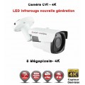 Tube AHD / CVI / TVI Anti-vandal 8 MegaPixels UHD 4K  IR 40m étanche réf: EC-EC-XVIC408MP - caméra surveillance