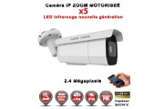 TUBE IP ZOOM Motorisée Zoom X5 ANTI-VANDAL IR 60M ONVIF POE SONY 1080P 2.4 MP / REF : EC-C2MP60AZ - CAMÉRA NUMÉRIQUE IP