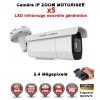 Tube IP Zoom Motorisée X5 anti-vandal IR 60M ONVIF POE SONY 1080P 2.4 MP / Ref : EC-C2MP60AZ - Caméra surveillance IP