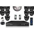 KIT CONFORT 10 Caméras Dômes SONY 700 Lignes + Enregistreur DVR 1000 Go / Pack de vidéo surveillance