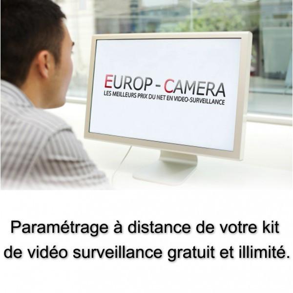 Caméra vidéo surveillance motorisée PTZ 360° IP POE FULL HD 1080P ONVIF IR 100M ZOOM X15 Exterieur / EC-PTZN4215IDE