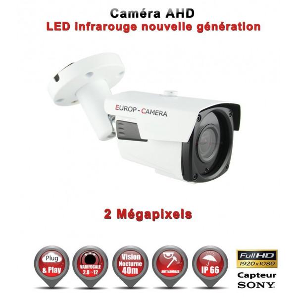 Tube AHD / CVI / TVI Capteur SONY 2.1MP FULL HD 1080P IR 40m étanche réf: EC-AHDC40FHDS - caméra vidéo surveillance