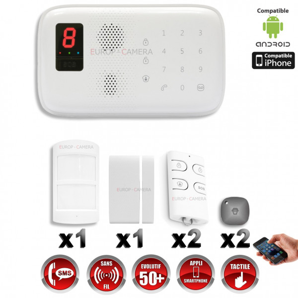 Système d'alarme sans fil GSM immunité animaux 25 kg CHUANGO O3 / G5 / S5