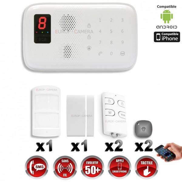 Alarme maison gsm sans fil rfid immunit animaux 25 kg for Alarme maison iphone