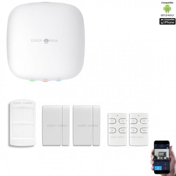Kit Alarme IP WIFI + GSM sans fil CHUANGO H4 Plus