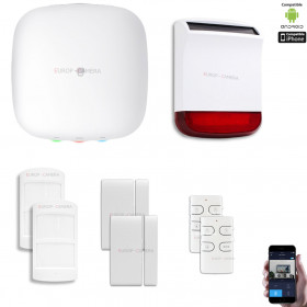 Kit Alarme IP WIFI + GSM sans fil CHUANGO H4 Plus Kit n°4