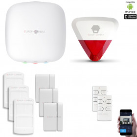 Kit Alarme IP WIFI + GSM sans fil CHUANGO H4 Plus Kit n°5