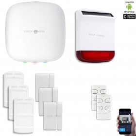 Kit Alarme IP WIFI + GSM sans fil CHUANGO H4 Plus Kit n°6