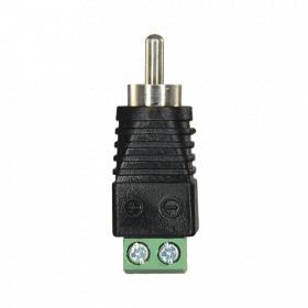 Connecteur RCA mâle - Bornier