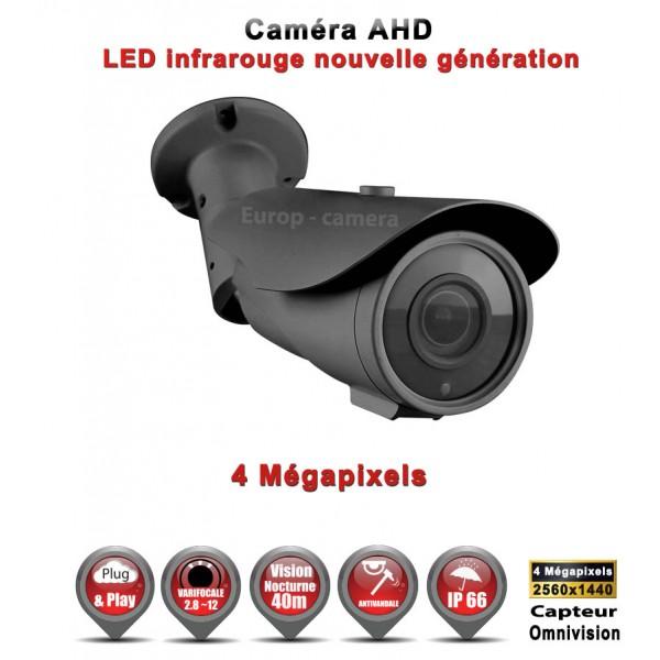"Tube AHD Anti-vandal MegaPixels Capteur 1/3"" OV IR 40m étanche réf: EC-AHDC404MP - caméra vidéo surveillance"