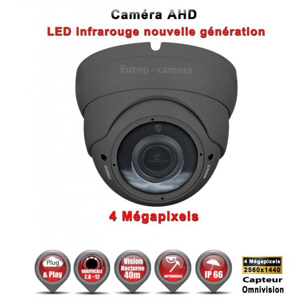 "Dôme AHD Anti-vandal 4 MegaPixels Capteur 1/3"" OV IR IR 35m étanche réf: EC-AHDD304MP - caméra vidéo surveillance"