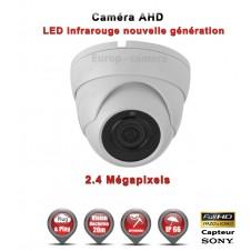 """Mini Dôme AHD / CVI / TVI FULL HD 1080P 2.4MP Capteur 1/2.7"""" SONY IMX323 IR 20m étanche réf: EC-AHDD20FHDB - caméra surveillance"""