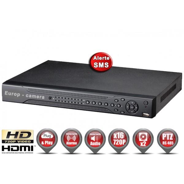 Enregistreur numérique AHD H264 16 canaux HD 720P