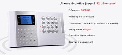 Alarme GSM + RTC sans fil 868 mhz mfprotect