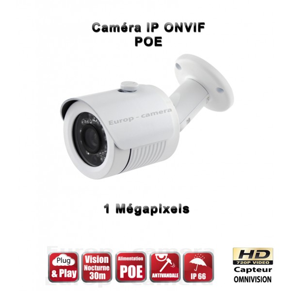 Caméra ip 720P ONVIF 1MP PLUG AND PLAY