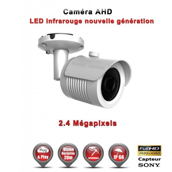 """Tube AHD Anti-vandal FULL HD 1080P Capteur 1/2.7"""" SONY IMX322 IR 20m étanche réf: EC-AHDC20FHD"""
